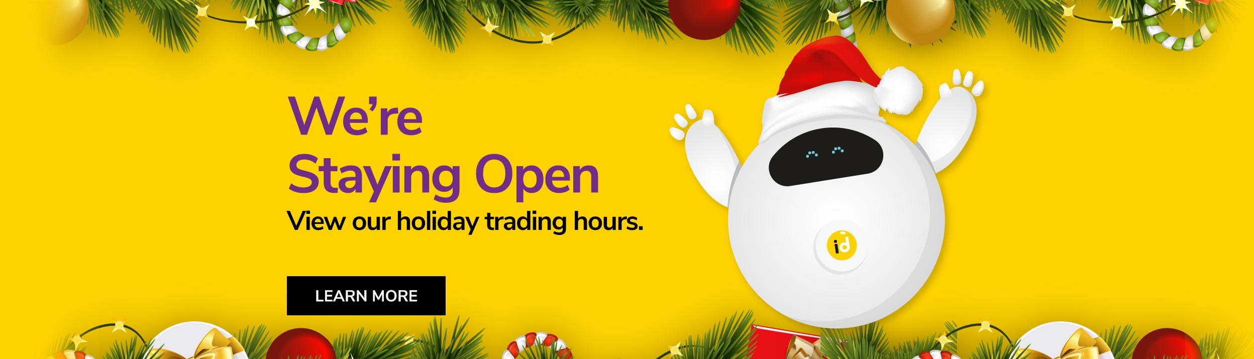 Holiday Shut Down Trading Hours - ID Warehouse