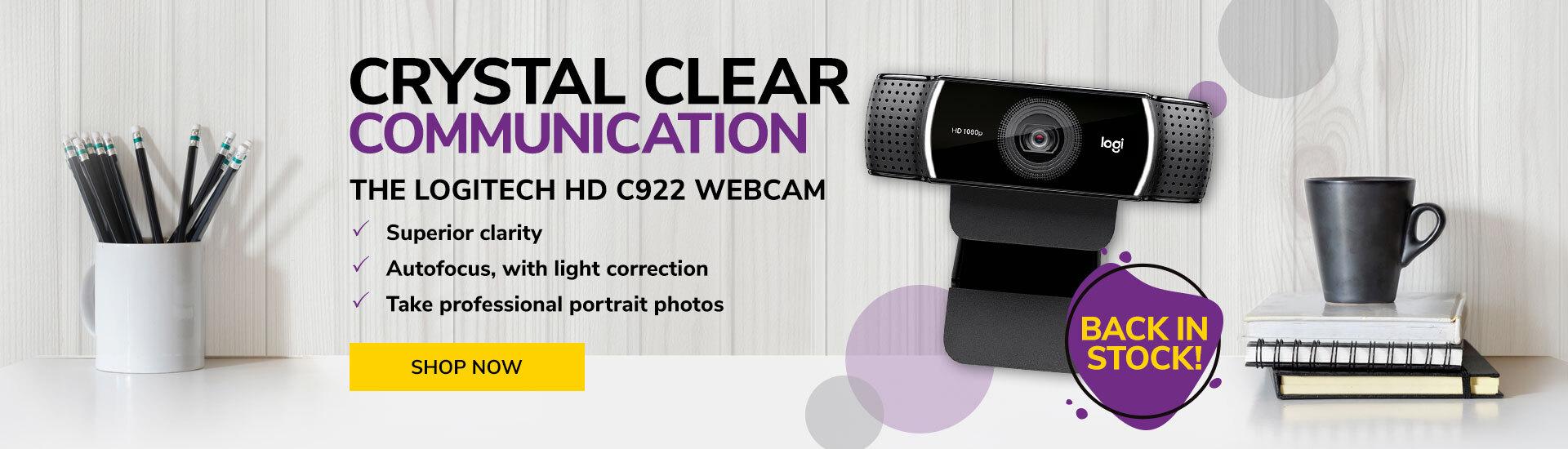 ID Warehouse - Logitec HD C922 Webcam