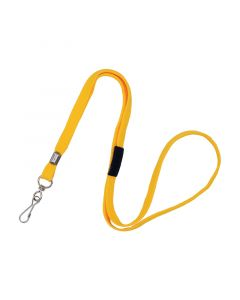 Lanyard with Swivel Hook, Breakaway, 10mm, Yellow, Pack 50