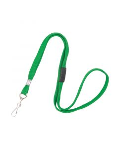 Lanyard with Swivel Hook, Breakaway, 10mm, Green, Pack 50
