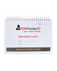 Tempbadge 1 Day Expiry Visitor Book 240 Badge Labels White
