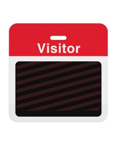 """Tempbadge Backing Badge """"Visitor"""" 1000 Red"""