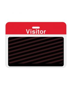 """Tempbadge Backing Badge """"Visitor"""" Large 1000 Red"""