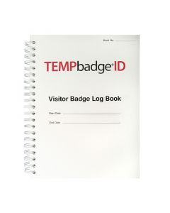 TEMPbadge Visitor Book Non-Expiry 500 badges