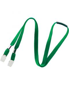Double Bulldog Clip Lanyard With Breakaway, 10mm, Pack Of 100