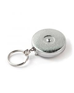 Key-Bak Original Key Holder Reel with Split Ring, Belt Clip, Chrome