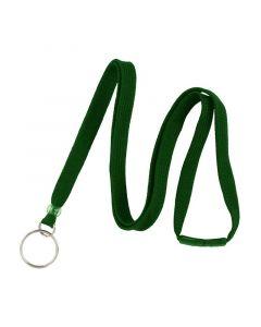 Lanyard with Split Ring, Breakaway, 10mm, Green, Pack 100