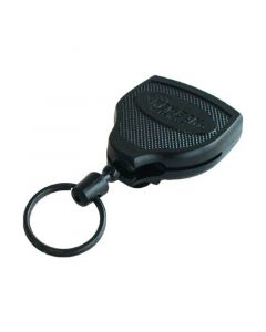 Key-Bak Super48 Key Holder Reel with Split Ring, Belt Clip, Black