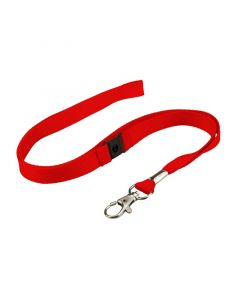 Lanyard with Trigger Hook, Breakaway, 16mm, Red, Pack 50