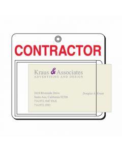 Flexible Card Holder, Contractor, Landscape, Standard Size, Pack 10