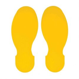 ToughStripe Floor Marking Footprints - Pack of 10, Yellow