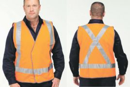 Reflective Safety Vest-Cross Back