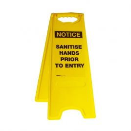 Deluxe Floor Stands - Notice Sanitise Hands Prior To Entry