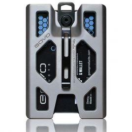 GOVO T4 Badge Holder Titanium Silver
