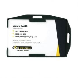 ID Card Holder 10pk Dual Orientation, Recycled Rigid, Open Faced